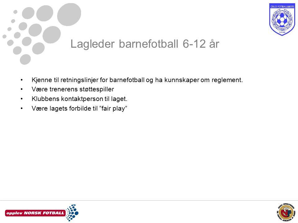 Kjenne til retningslinjer for barnefotball og ha kunnskaper om reglement.