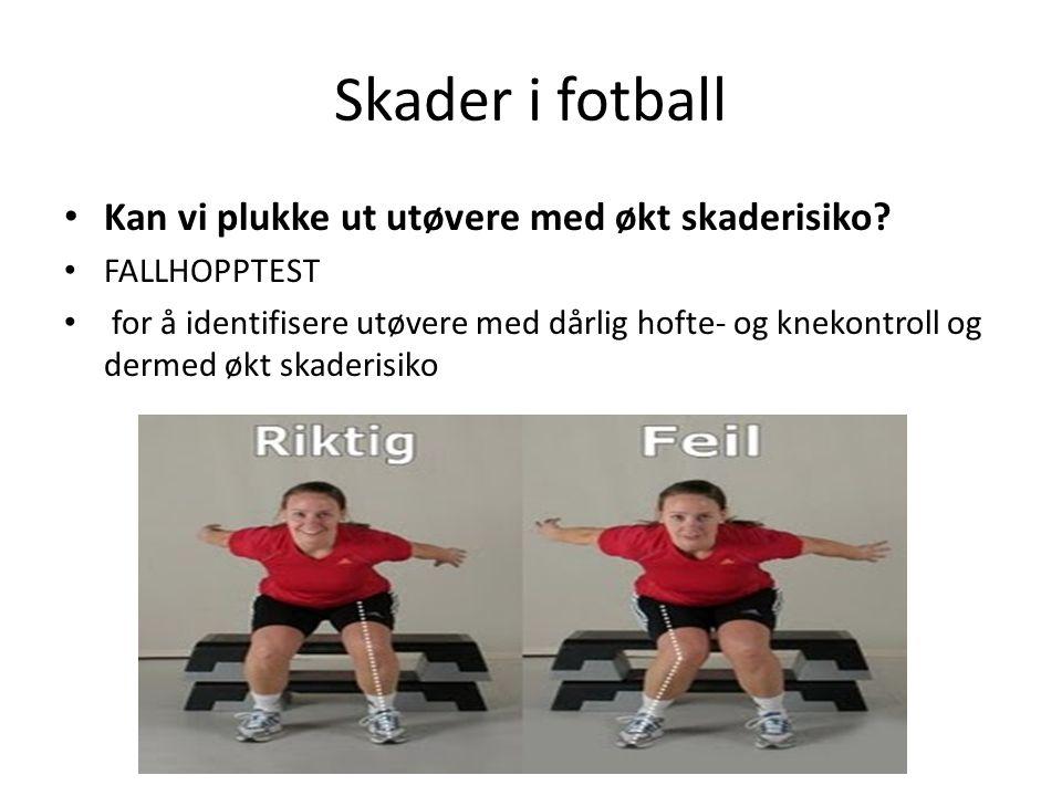 Skader i fotball Kan vi plukke ut utøvere med økt skaderisiko.