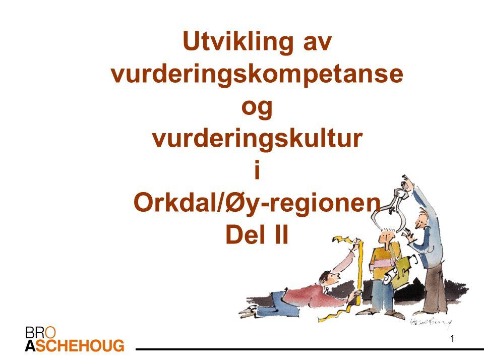 1 Utvikling av vurderingskompetanse og vurderingskultur i Orkdal/Øy-regionen Del II
