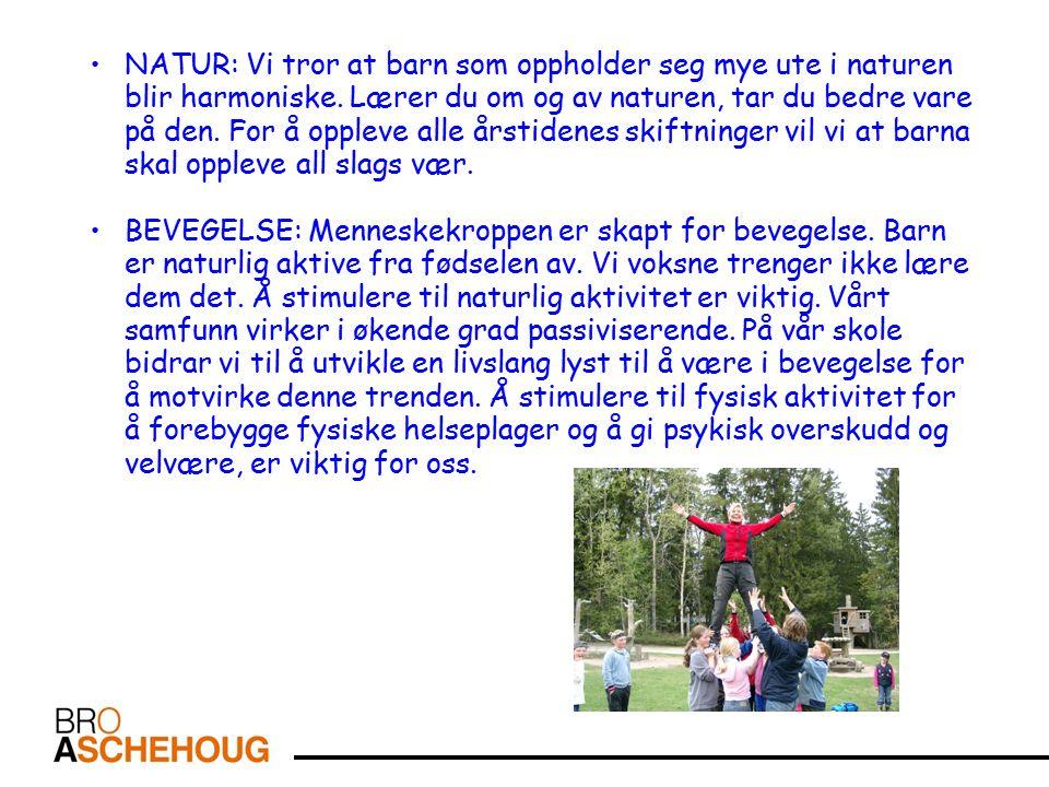 NATUR: Vi tror at barn som oppholder seg mye ute i naturen blir harmoniske.