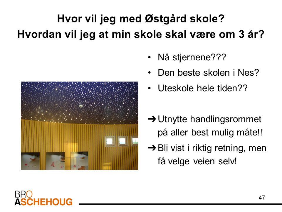 47 Hvor vil jeg med Østgård skole. Hvordan vil jeg at min skole skal være om 3 år.