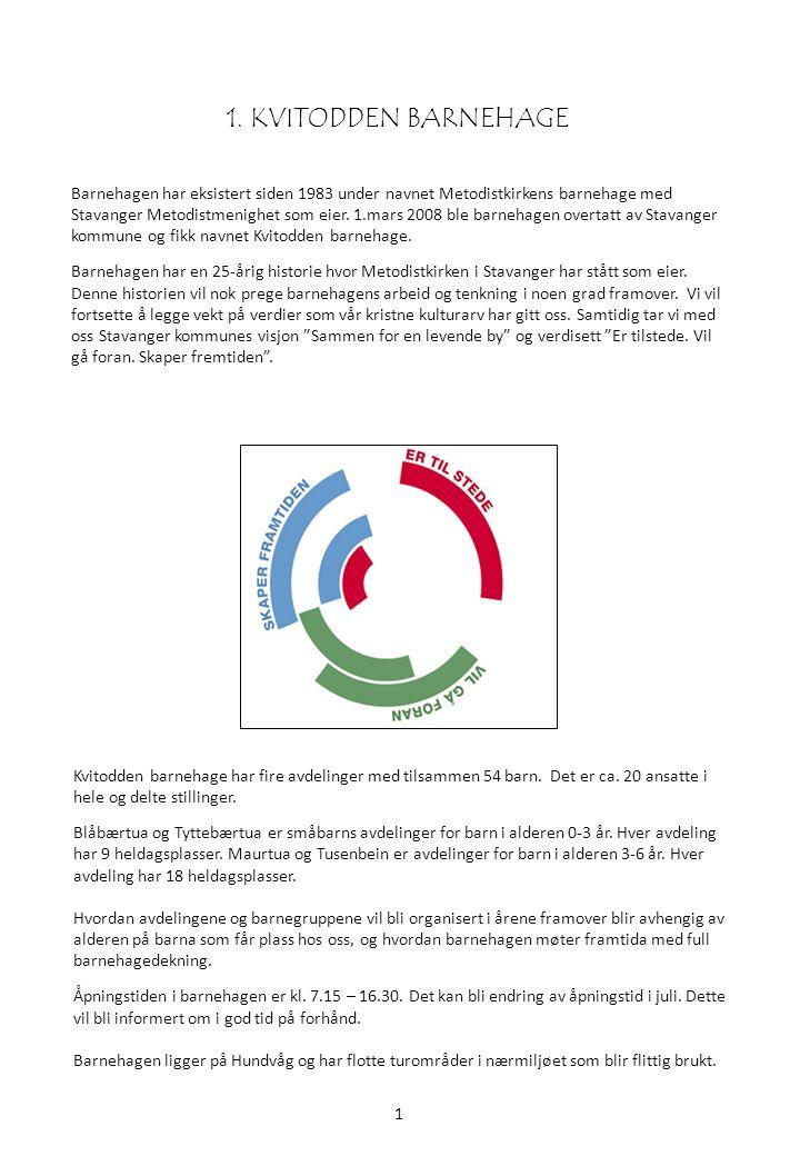 1.1 Daglig ledelse Styrer representerer eier (Stavanger Kommune) og har ansvaret for den daglige driften av barnehagen.