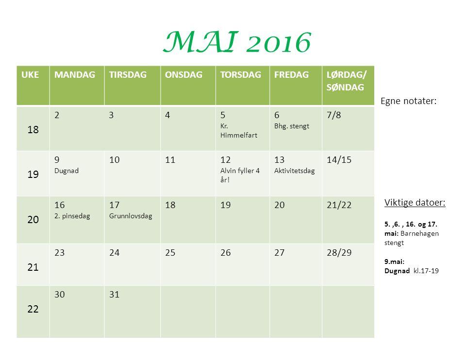 MAI 2016 UKEMANDAGTIRSDAGONSDAGTORSDAGFREDAGLØRDAG/ SØNDAG 18 2 345 Kr.