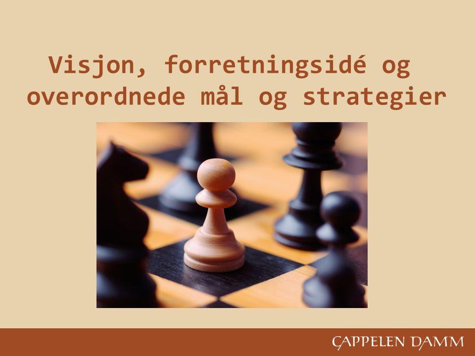 Bilde inn Visjon, forretningsidé og overordnede mål og strategier