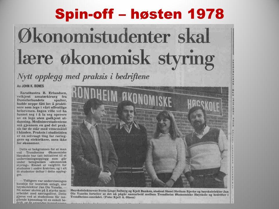 Spin-off – høsten 1978