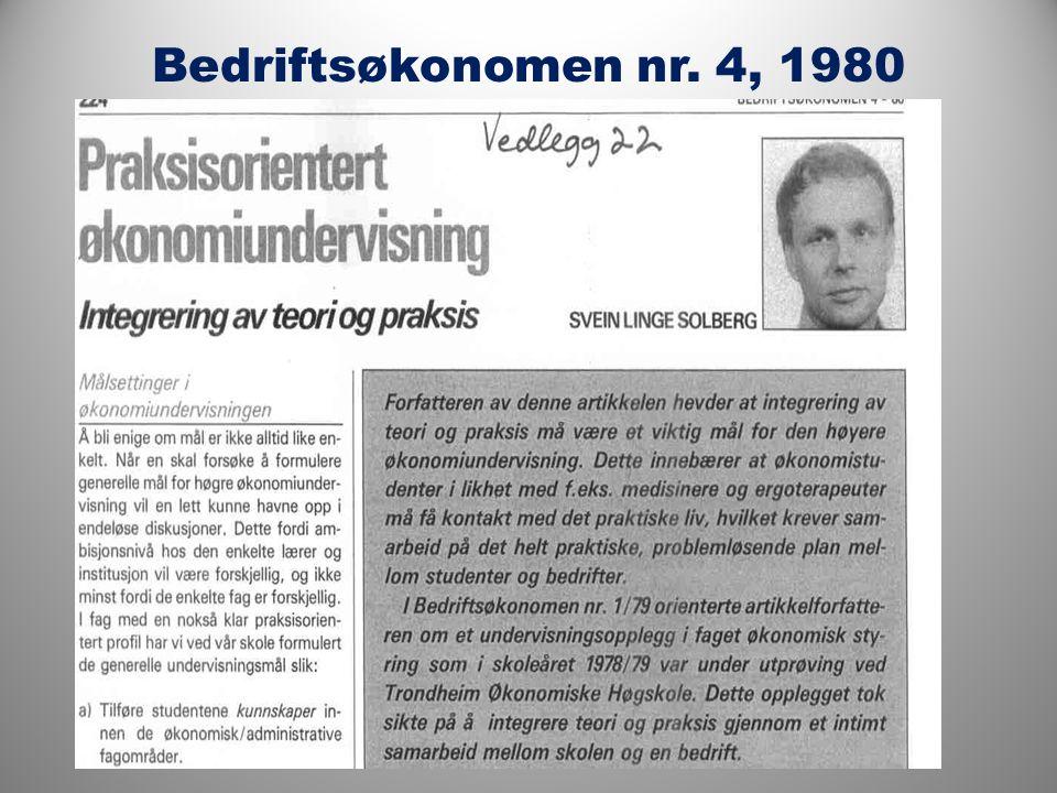 Bedriftsøkonomen nr. 4, 1980