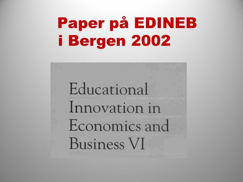 Paper på EDINEB i Bergen 2002
