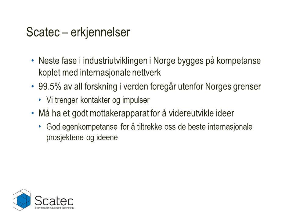 Neste fase i industriutviklingen i Norge bygges på kompetanse koplet med internasjonale nettverk 99.5% av all forskning i verden foregår utenfor Norge