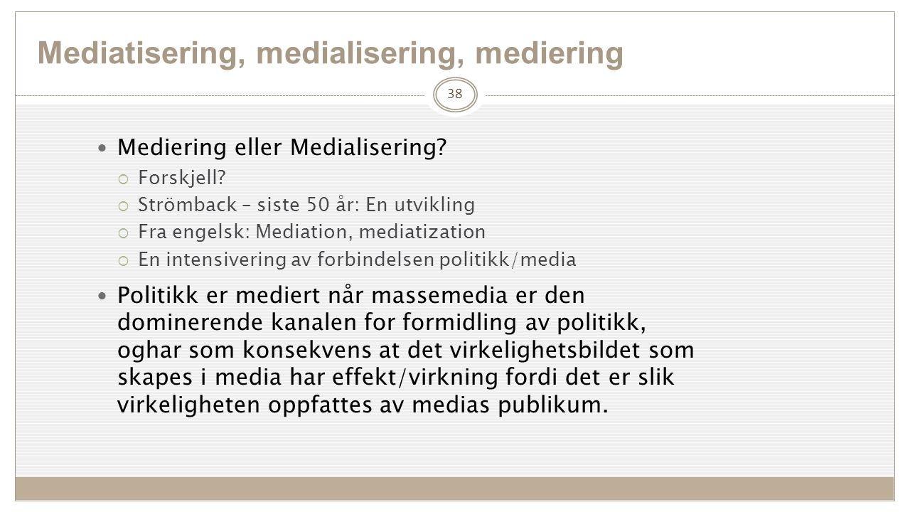 Mediering eller Medialisering. Forskjell.