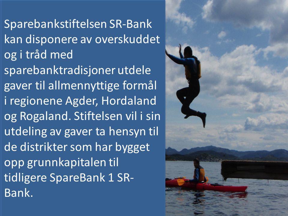 Sparebankstiftelsen SR-Bank er opprettet som et ledd i omdanningen av SpareBank 1 SR-Bank til allmennaksjeselskap.