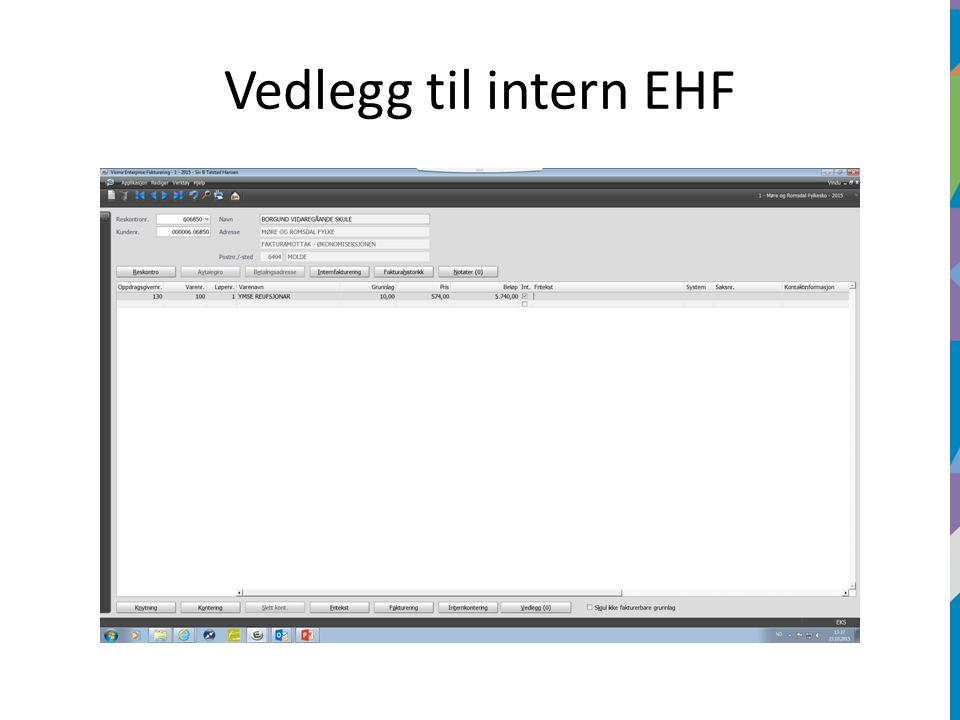Vedlegg til intern EHF