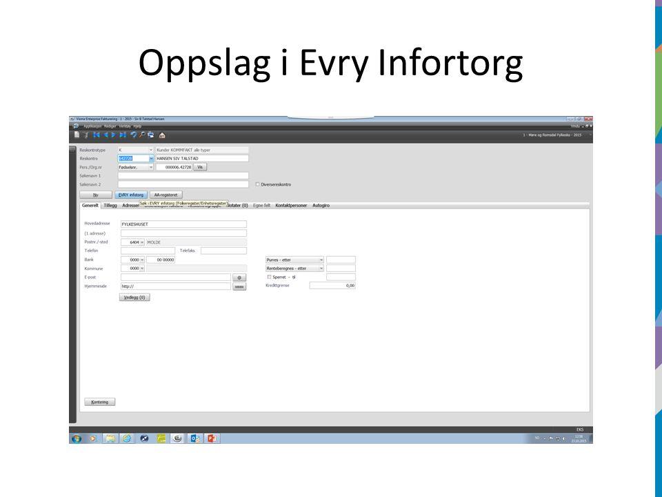 Oppslag i Evry Infortorg
