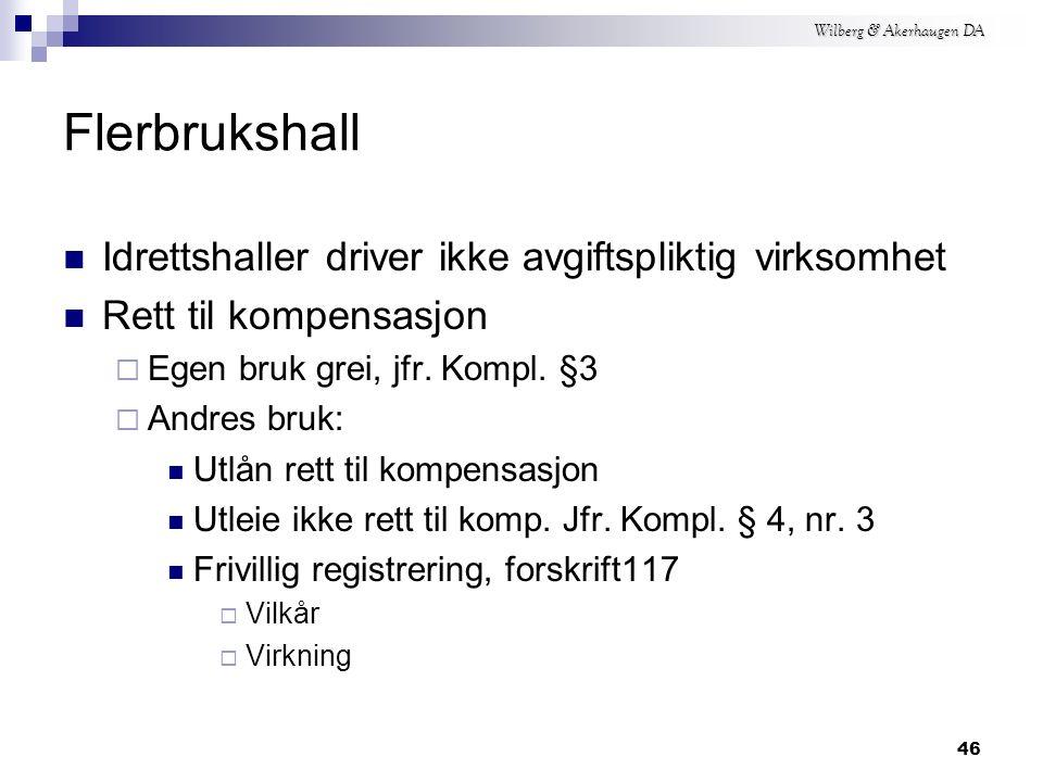 Wilberg & Akerhaugen DA Foreldelse – 2 Kompensasjonslovens § 10  Annet er bestemt: Utgangspunkt: Oppgavefristen for sjette periode påfølgende år.