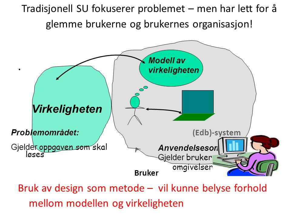 Tradisjonell SU fokuserer problemet – men har lett for å glemme brukerne og brukernes organisasjon!.