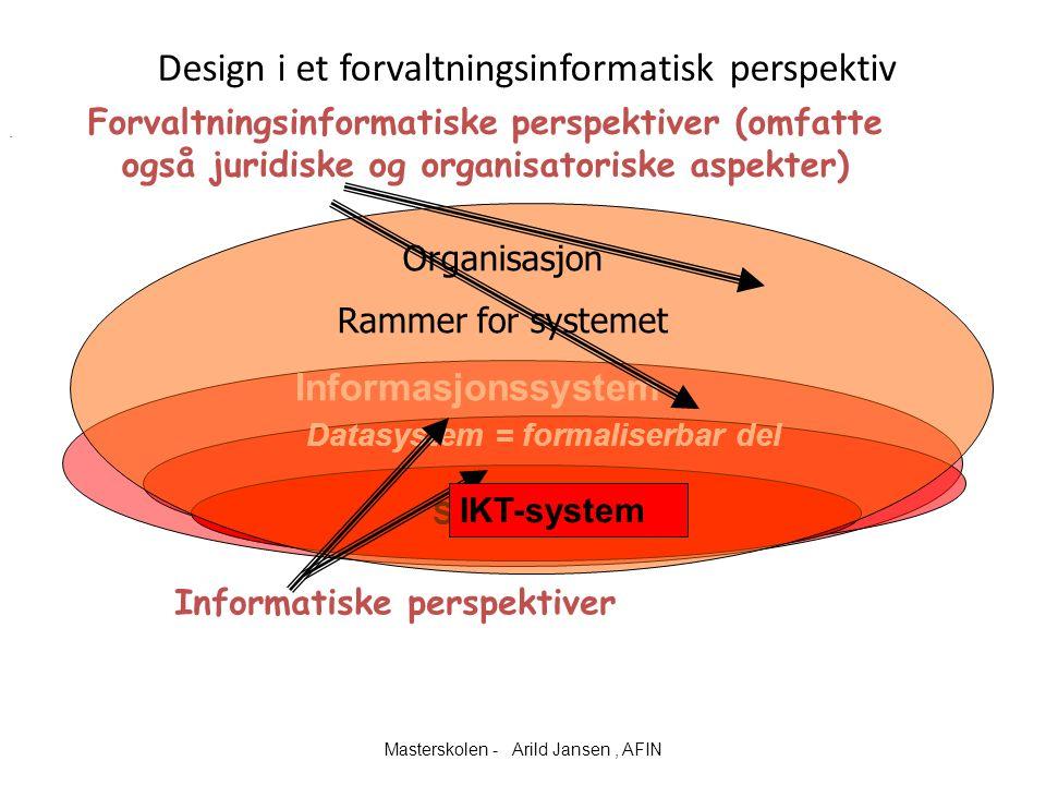 Design i et forvaltningsinformatisk perspektiv.