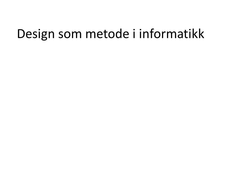 Design som metode i informatikk