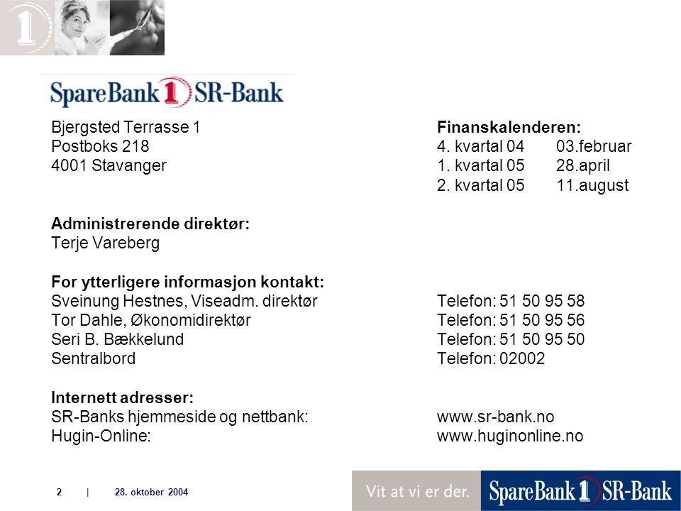 | 28. oktober 20042 Bjergsted Terrasse 1Finanskalenderen: Postboks 218 4.