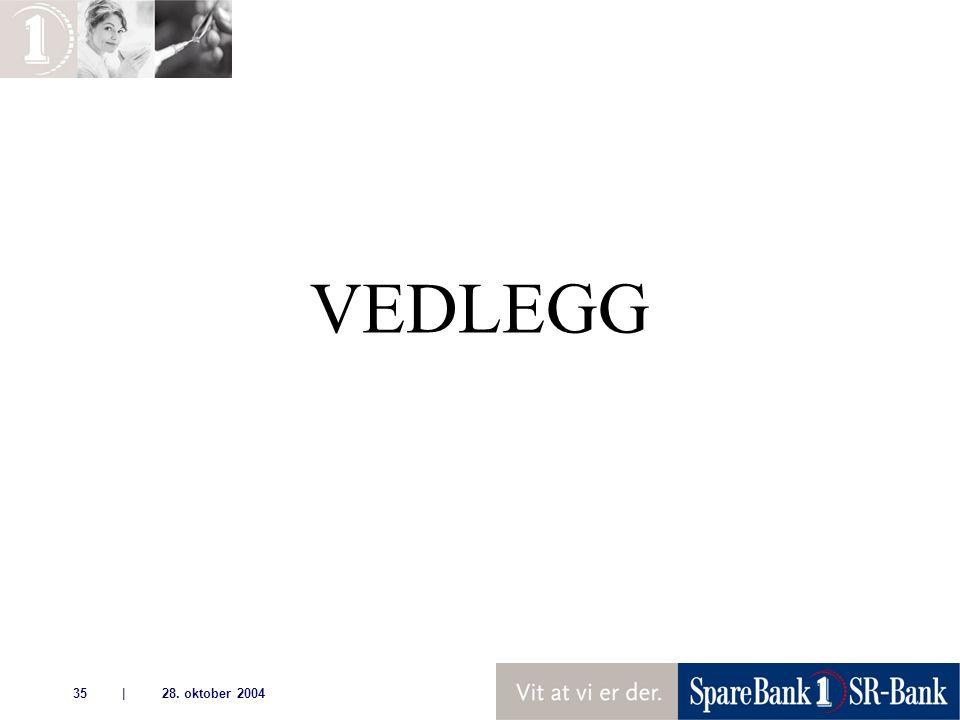 | 28. oktober 200435 VEDLEGG