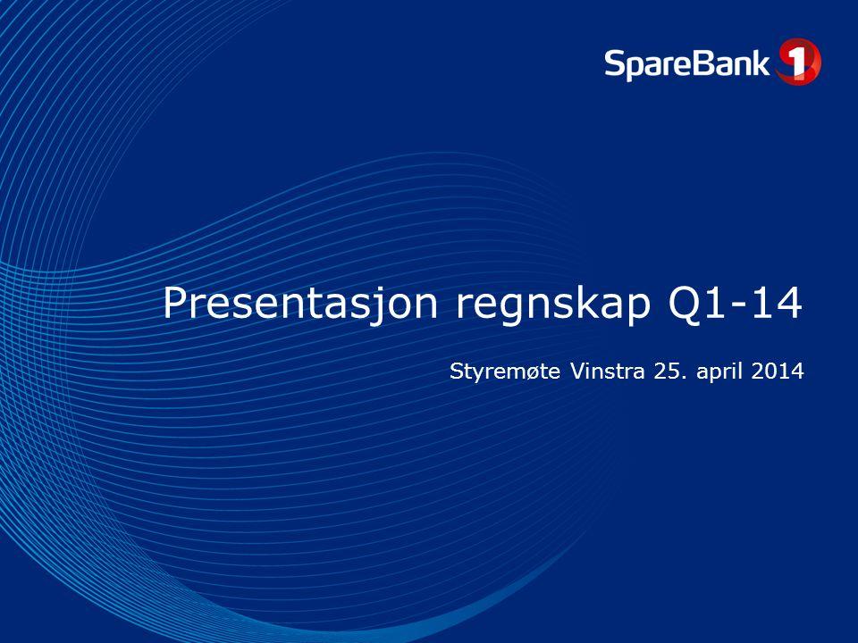 Presentasjon regnskap Q1-14 Styremøte Vinstra 25. april 2014
