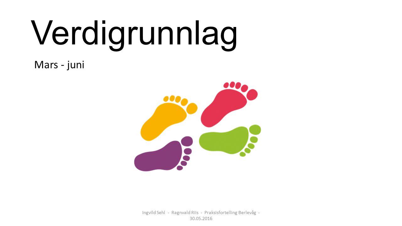 Verdigrunnlag Mars - juni Ingvild Sehl - Ragnvald Riis - Praksisfortelling Berlevåg - 30.05.2016
