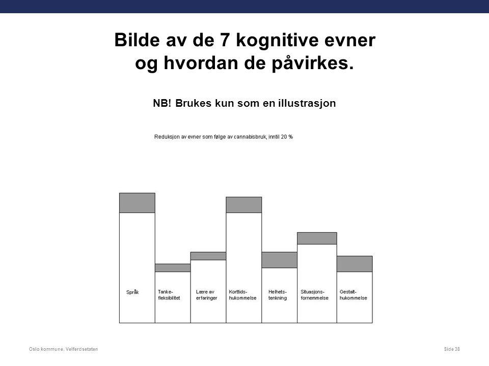 Side 38 Bilde av de 7 kognitive evner og hvordan de påvirkes.