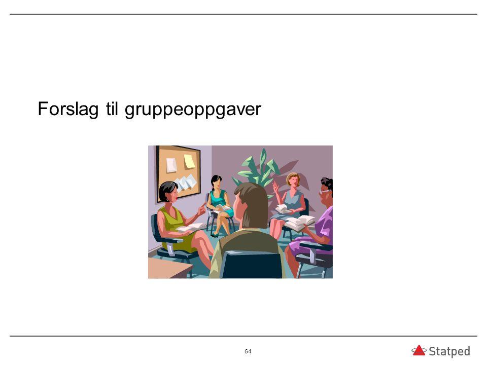 Forslag til gruppeoppgaver 64