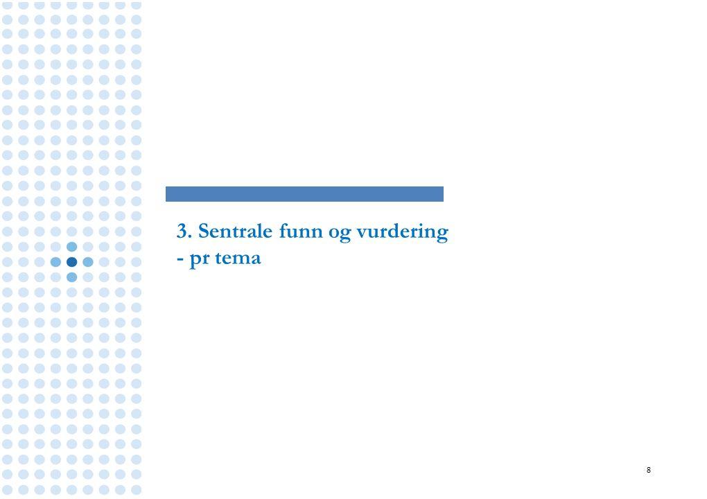 3. Sentrale funn og vurdering - pr tema 8