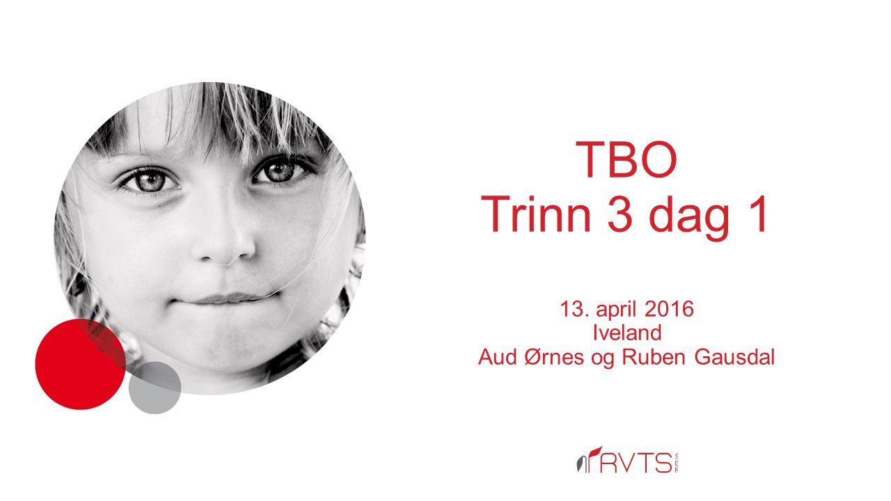 TBO Trinn 3 dag 1 13. april 2016 Iveland Aud Ørnes og Ruben Gausdal