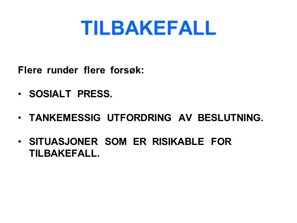 TILBAKEFALL Flere runder flere forsøk: SOSIALT PRESS.