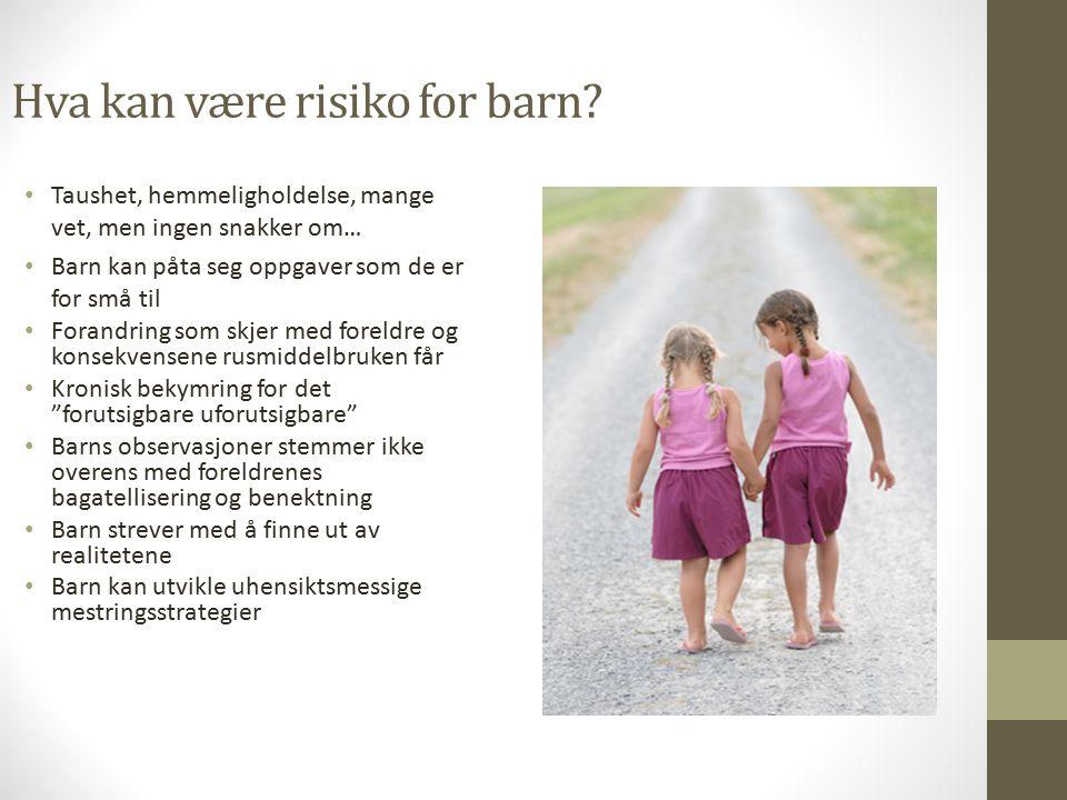 Hva kan være risiko for barn.