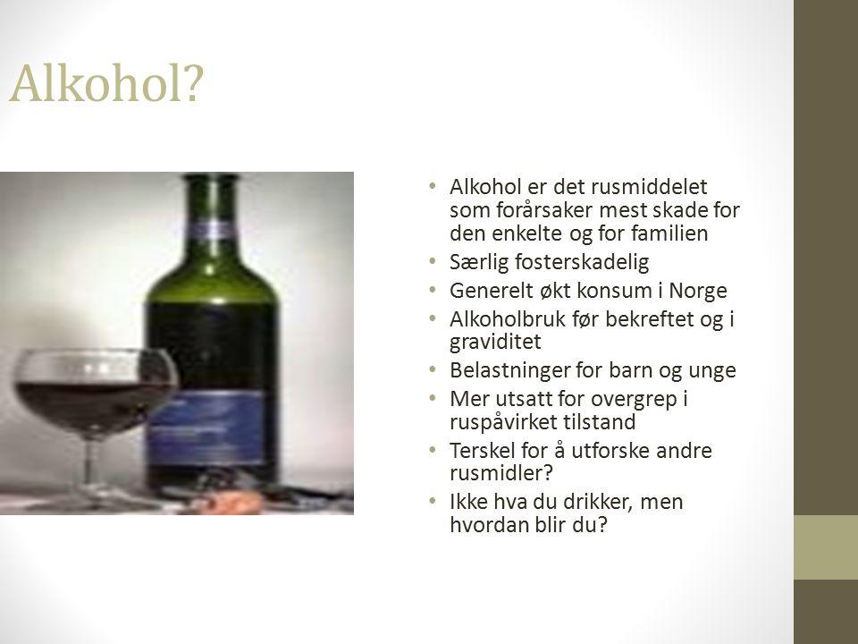 Bruk av alkohol i svangerskapet Dr.med.