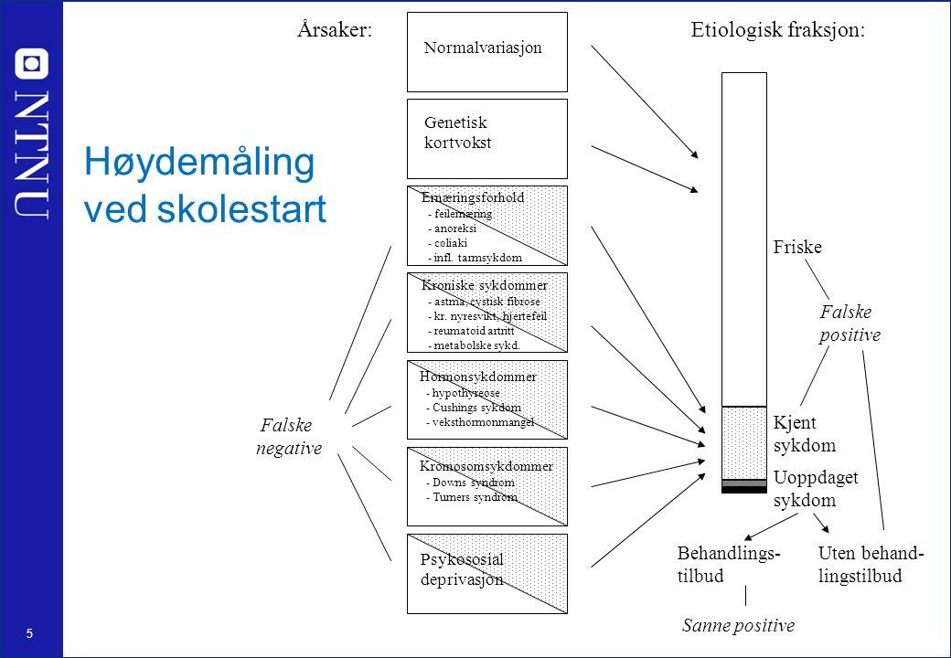 5 Årsaker: Normalvariasjon Ernæringsforhold - feilernæring - anoreksi - cøliaki - infl.