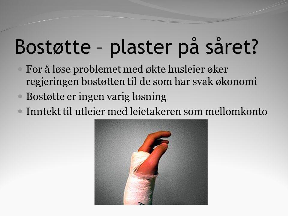 Bostøtte – plaster på såret.
