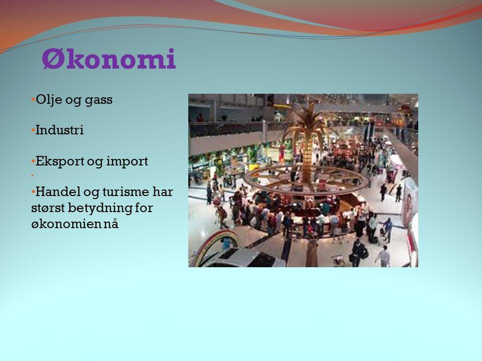 Økonomi Olje og gass Industri Eksport og import Handel og turisme har størst betydning for økonomien nå