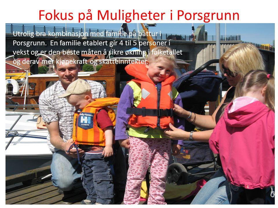 Fokus på Muligheter i Porsgrunn Utrolig bra kombinasjon med familie på båttur i Porsgrunn.