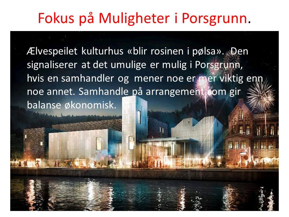 Fokus på Muligheter i Porsgrunn. Ælvespeilet kulturhus «blir rosinen i pølsa».