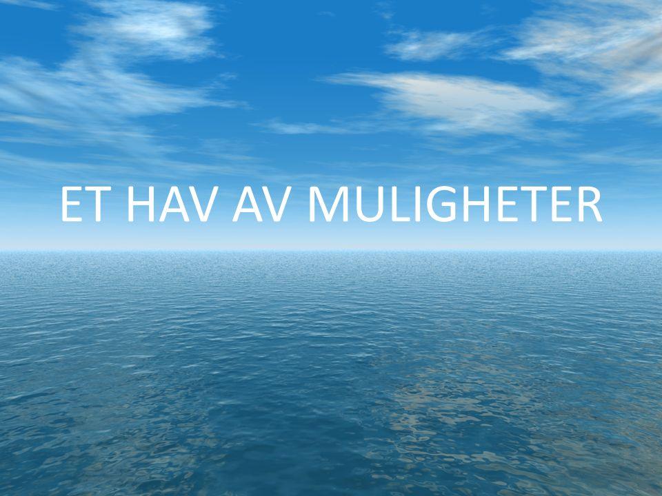 De blå mulighetene Den grønne og den blå åker Det er mulig å oppnå en produksjon av laks og ørret på 5 millioner tonn i Norge i 2050 mot 1.2 millioner tonn i 2012 (Det Kongelige Norske Videnskabers Selskab, 2012) Den politiske viljen må være til stede.