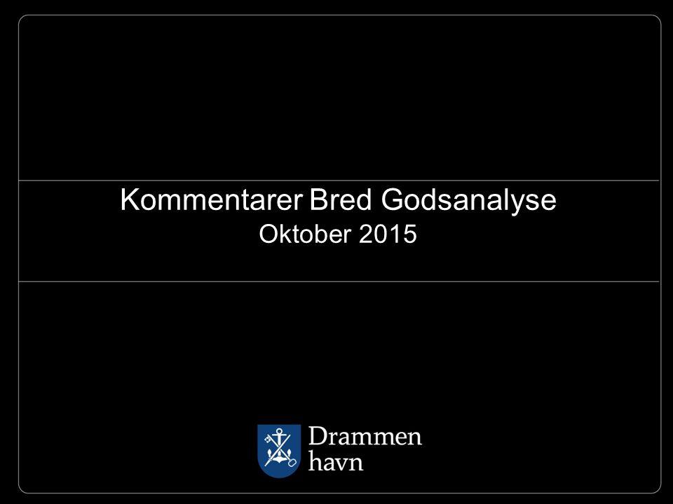 Kommentarer Bred Godsanalyse Oktober 2015