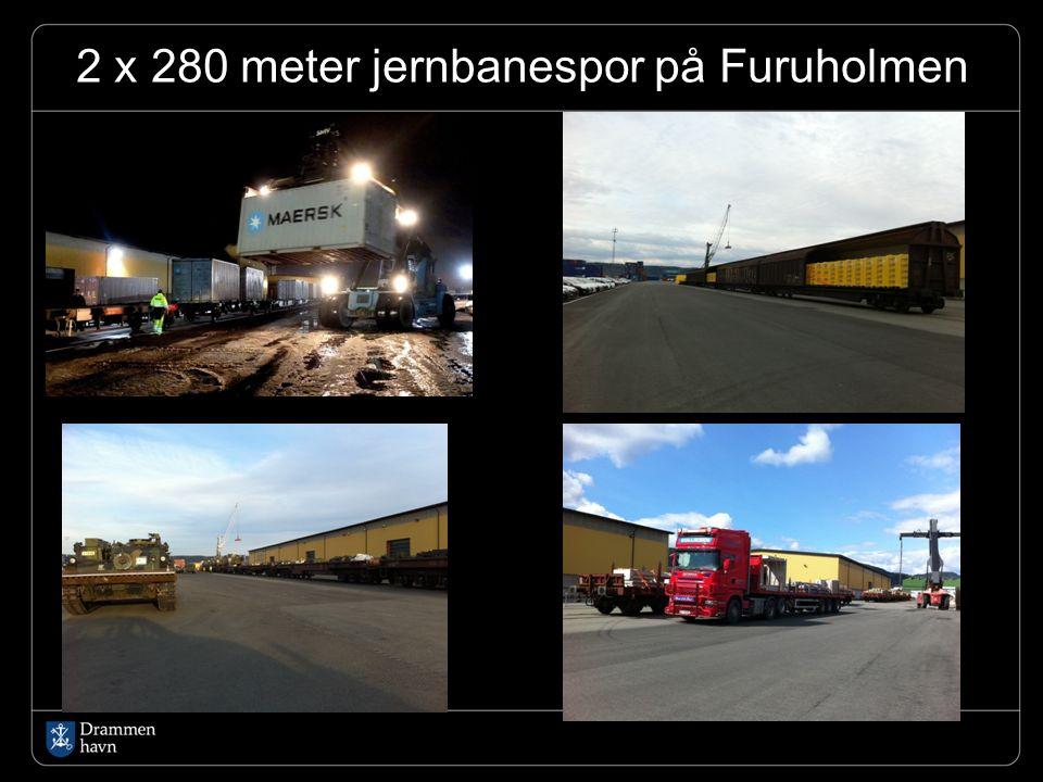 2 x 280 meter jernbanespor på Furuholmen..