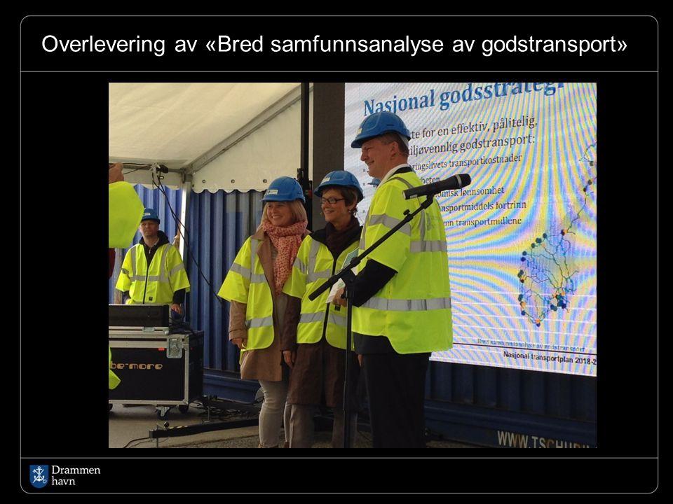 Overlevering av «Bred samfunnsanalyse av godstransport»