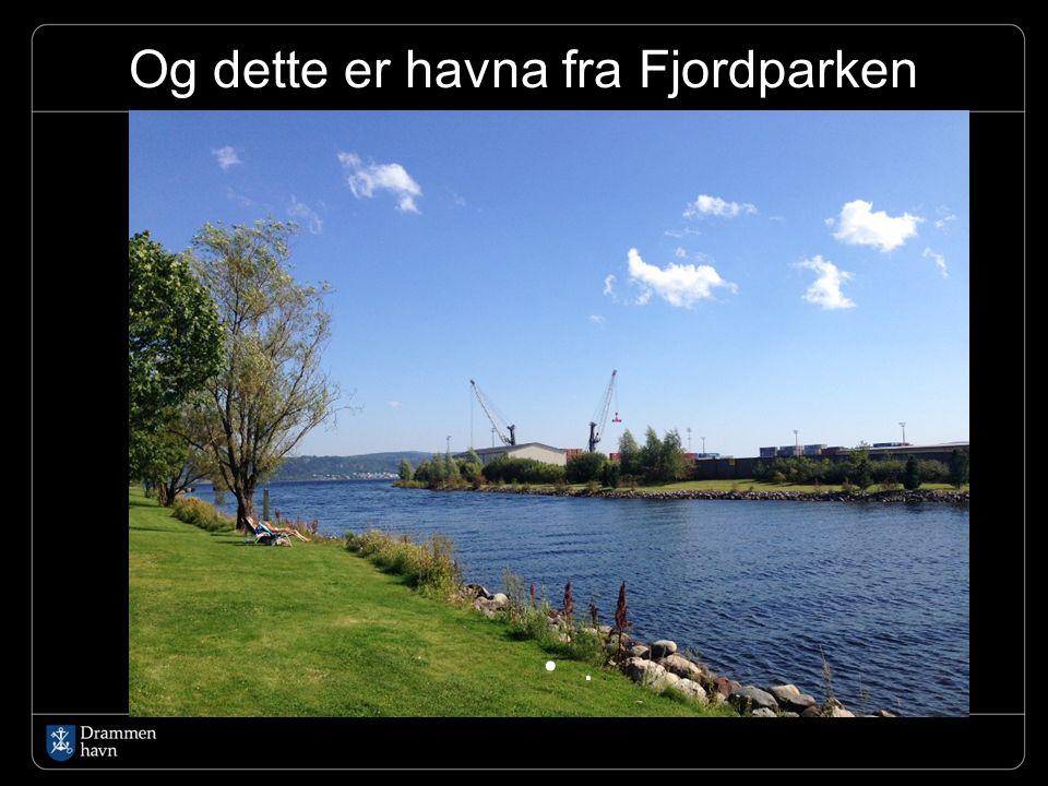 Og dette er havna fra Fjordparken.