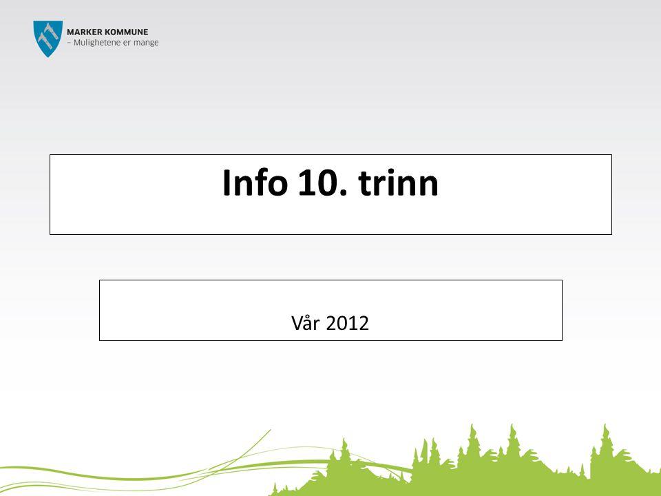 Info 10. trinn Vår 2012