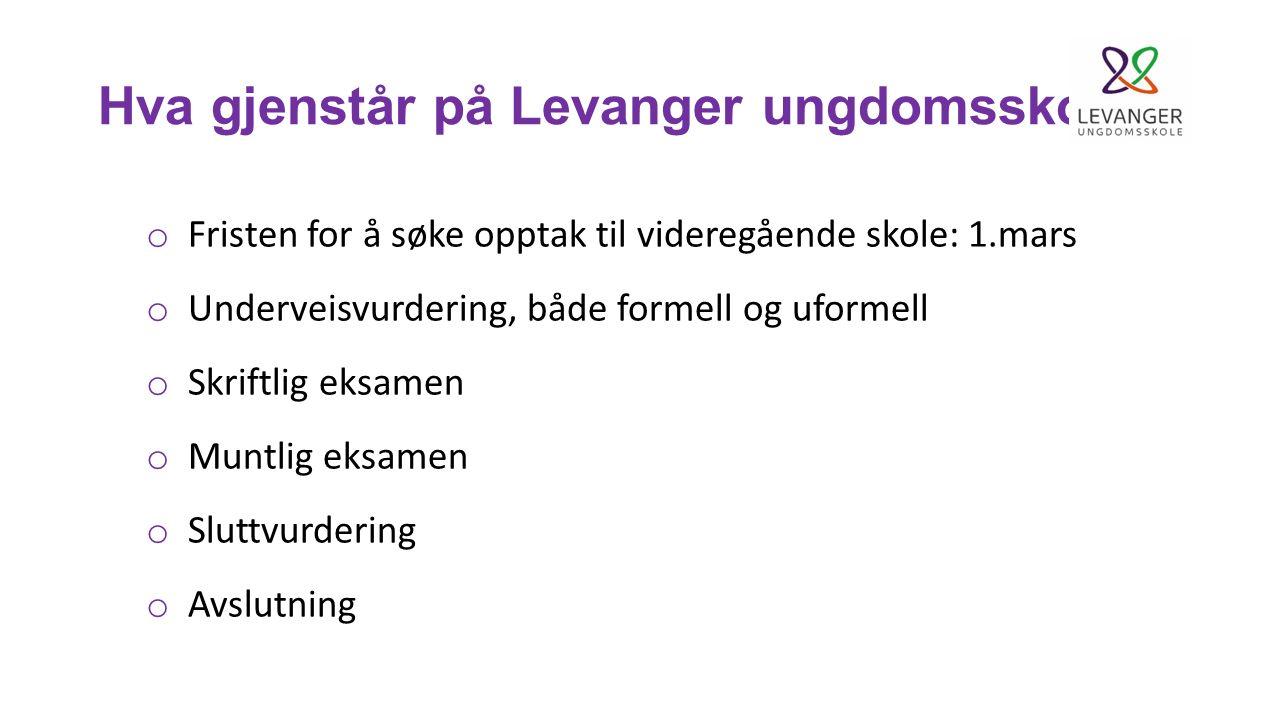 Hva gjenstår på Levanger ungdomsskole.