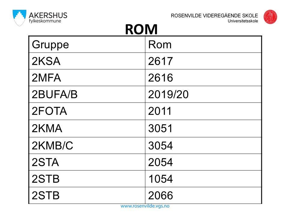 ROM GruppeRom 2KSA2617 2MFA2616 2BUFA/B2019/20 2FOTA2011 2KMA3051 2KMB/C3054 2STA2054 2STB1054 2STB2066