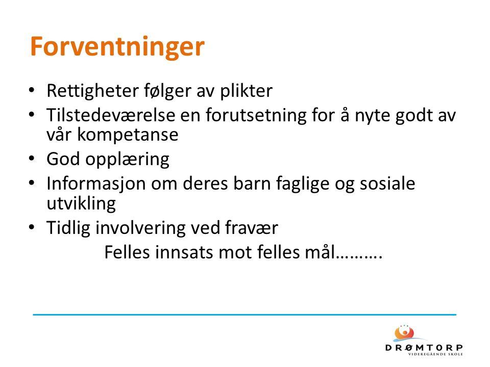 Annet Fravær – arbeidslivets krav Inntak videre I og IV Frister for å søke fritak, tilrettelegging ved eksamen og annet - 15.