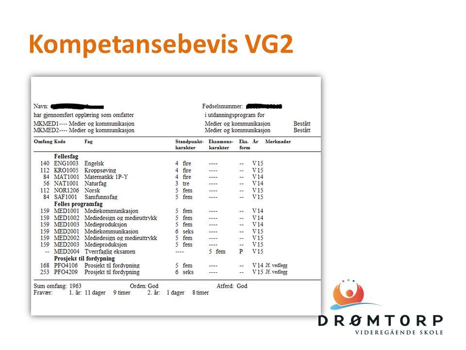 Kompetansebevis VG2