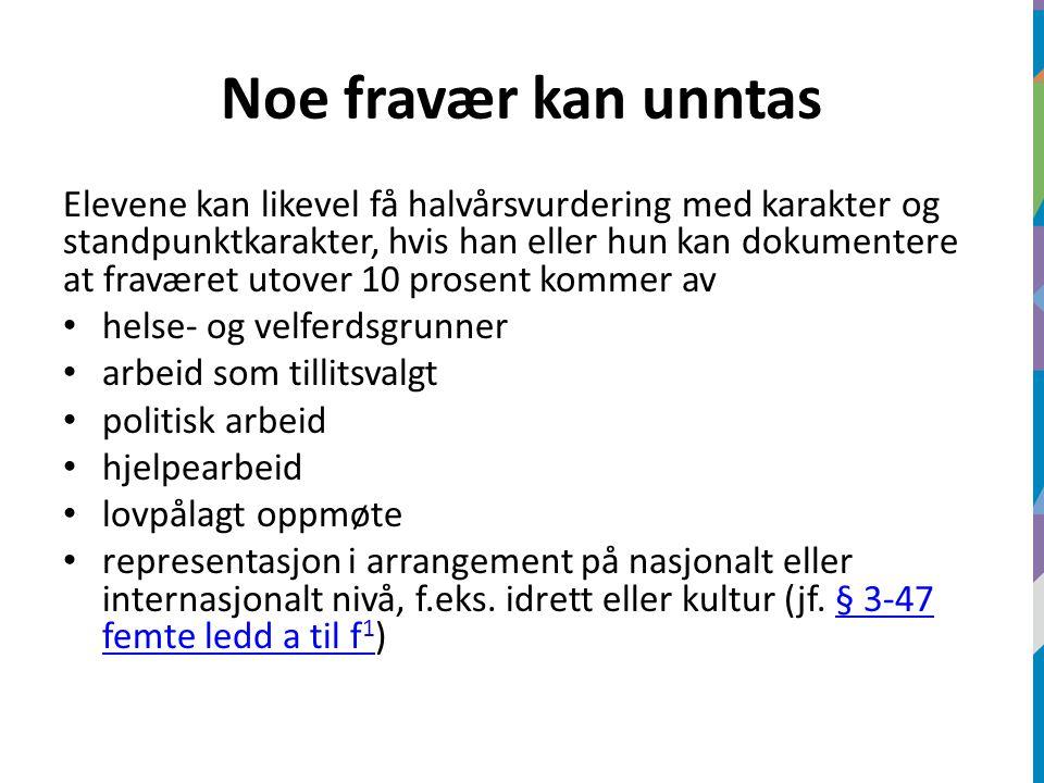 Elever vil også kunne få unntatt fravær på inntil to dager til religiøse høytider utenom Den norske kirke, jf.