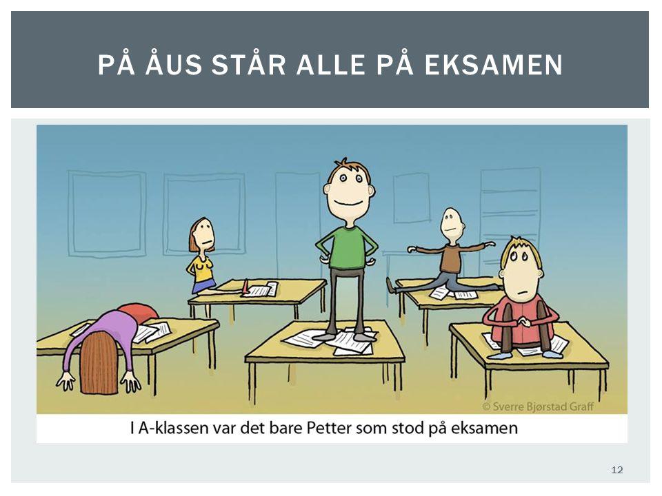 PÅ ÅUS STÅR ALLE PÅ EKSAMEN 12