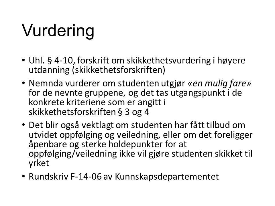 Vurdering Uhl.