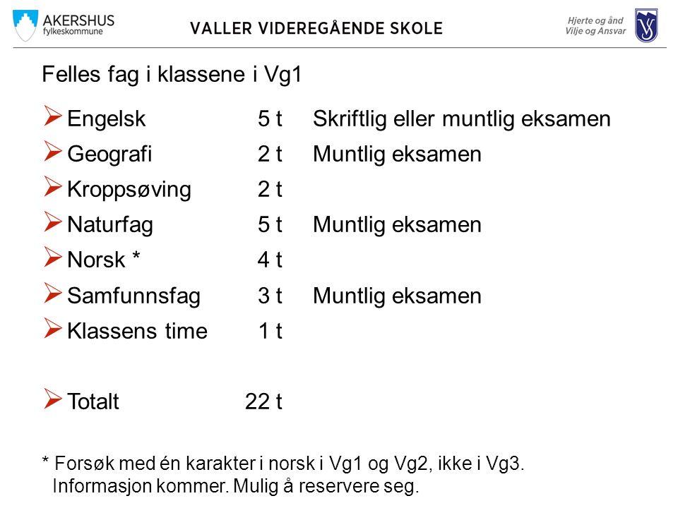 Matematikk i Vg1 – 5 t – Gruppedelt fag  Matematikk 1PSkriftlig eller muntlig eksamen  Tilbud først og fremst for de som bare vil ha matematikk som obligatorisk fellesfag.